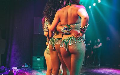 Braziliaanse samba danseressen en shows